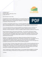 Rural Caucus Letter Governor Walz