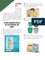 Aprovechamiento de agua en los hogares