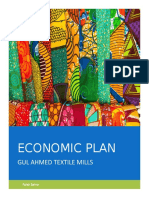 Economic Plan - Gul Ahmed Textile Mills