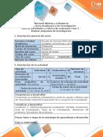 Guía de actividades y rúbrica de evaluación - Fase 2 - Diseñar propuesta de investigación (1).pdf
