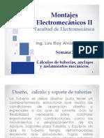 CALCULO DE TUBERIAS , ANCLAJES Y AISLAMIENTOS MECANICOS