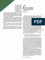 """MARGOLIN, V. (1990). """"Crítica de diseño notas pre- liminares"""". EN ELISAVA, Revista de la Escuela Supe- rior de Diseño. Barcelona."""