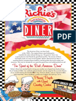 Richie's Diner Lunch Dinner Menu
