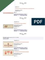 Catálogo Selos Comemorativos Blocos