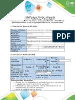 Guía de actividades y rúbrica de evaluación Tarea 3 – Identificar procedimientos y técnicas para la medición de contaminantes (2)