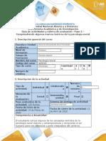 Guía de actividades y rúbrica de evaluación - Fase 2 - Comprendiendo algunos marcos teóricos de la psicología social (1).docx