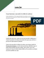 Como funciona o mercado de crédito de carbono
