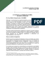 La calidad de la vivienda en Colombia Gilberto Arango 2002