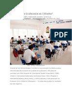 Cómo mejorar la educación en Colombia