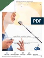 Curso de Oratória Passo a Passo _ Unifor - Educação Continuada