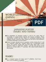 WORLD LITERATURE (Japan)