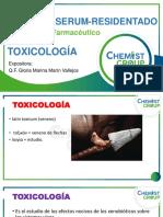 CLASE TOXICOLOGÍA PRIMERA SEMANA - Dra. Marina Marin