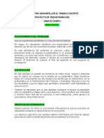 PASOS PARA DESARROLLAR EL TRABAJO ESCRITO-CULTURAL