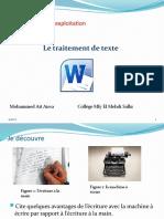 Unité II-S2-1 Le traitement de texte.pptx