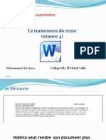 Unité II-S2-4 Le traitement de texte- selection mise en forme de caractère.pptx
