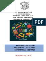 Actividades Para Receso Preventivo Matematicas II