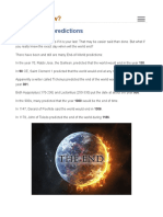 End of World Predictions