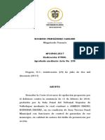 SP10944-2017(47850) REVOCATORIA DE MEDIDA DE ASEGURAMIENTO