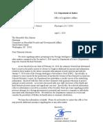 Letter to Senators Grassley and Johnson