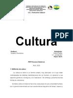 Informe de Cultura. Unidad I