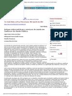 orientacoes csp Artigos sobre políticas e serviços de saúde em Cadernos de Saúde Pública