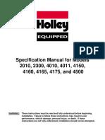 Holley 2 Barrel ID