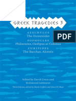 (Complete Greek Tragedies) Mark Griffith, Glenn W. Most, David Grene, Richmond Lattimore-Greek Tragedies 3_ Aeschylus_ The Eumenides_ Sophocles_ Philoctetes, Oedipus at Colonus_ Euripides_ The Bacchae (1).epub