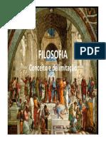 FILOSOFIA - Conceito e Delimitação