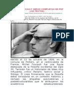 MICHEL FOUCAULT OBRAS COMPLETAS EN PDF