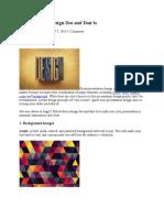6 Presentation Design Dos and Don