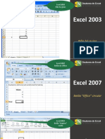 VERSOES DO EXCEL