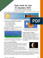 L'éclipse totale de Lune du 21 décembre 2010