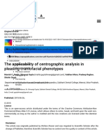 Centographic analysis