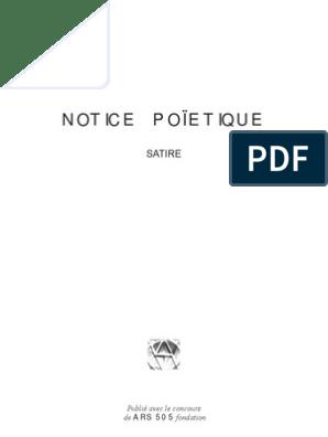 16924594 NOTICE POIETIQUE | Esthétique | Cerveau