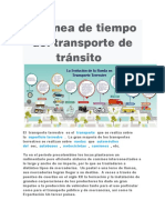 La línea de tiempo del transporte de tránsito