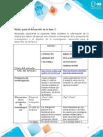 Anexo 2 - Matriz para el desarrollo de la fase 3-