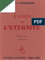 A. K. Coomaraswamy - LE TEMPS ET L ETERNITE.pdf