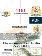 THE GOVERNMENT OF INDIA ACT 1858