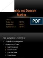 Leadership and Decision Making
