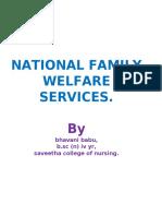 family welfare measures