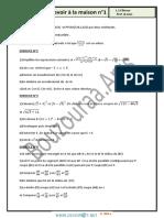 Devoir de Maison N°1 - Math - 1ère AS (2014-2015) Mr Bouzouraa Anis