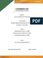ACTIVIDAD 7 - EVALUATIVA - DE CALCULO DIFERENCIAL E INTEGRAL.
