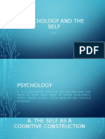 PSYCHOLOGY AND THE SELF