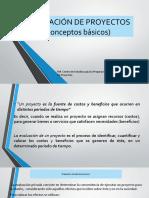 EVALUACIÓN DE PROYECTOS (conceptos)