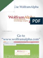136883259 How to Use WolframAlpha