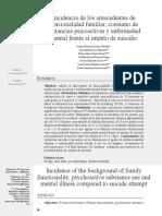 (2012). Incidencia de los antecedentes de funcionalidad familiar, consumo de sustancias psicoactivas y enfermedad mental frente al intento de suicidio. Revista ciencia y cuidado, 9(2), 36-42.