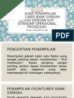 PERTEMUAN 5 - STANDAR PENAMPILAN FRONTLINER PADA BANK SYARIAH SESUAI DENGAN S.O.P