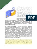 Tema II. La inclusión Financiera