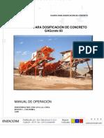 Manual de Operaciones Planta GAG  60