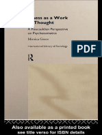 Illness as a Work of Thought A Foucauldian Perspective of Psychosomatics (International Library of Sociology) by Monica Greco (z-lib.org)